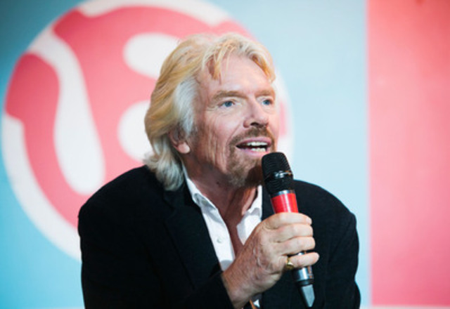 Virgin Group Founder Sir Richard Branson shares Virgin Mobile RE*Generation's new focus on helping at-risk and homeless youth develop skills to find and keep jobs. (CNW Group/Virgin Mobile Canada)
