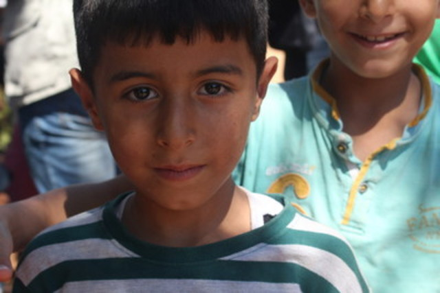 Le 13 septembre avant l'escalade de la violence, l'UNICEF avec d'autres agences a pu se rendre dans certains quartiers d'Alep pour évaluer les besoins humanitaires. (Groupe CNW/UNICEF Canada)