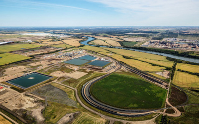 Aerial of Pembina Pipeline Corporation's Redwater fractionation facility. (CNW Group/Pembina Pipeline Corporation)
