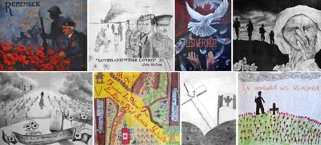 1st place winners of the Legion's 2016 poster contests (CNW Group/The Royal Canadian Legion Dominion ...