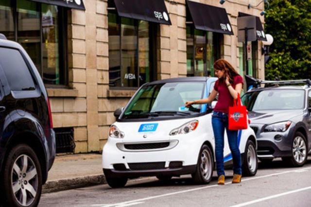 car2go autopartage : une nouvelle forme de libre-service à Montréal. (Groupe CNW/car2go Canada Ltée.)