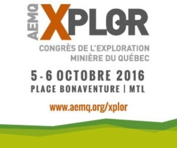 Xplor 2016: Quebec Mining Exploration Convention (CNW Group/Quebec Mineral Exploration Association (AEMQ))