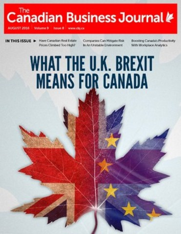 The Canadian Business Journal, August 2016 Issue (CNW Group/The Canadian Business Journal)