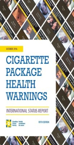 Cigarette package health warnings (CNW Group/Canadian Cancer Society (National Office))