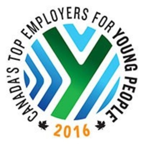 Canada's Top Employers for Young People (2016) logo (CNW Group/Mediacorp Canada Inc.)