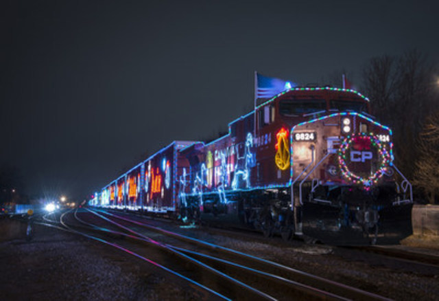 Le Train des Fêtes du Canadien Pacifique (Groupe CNW/Canadian Pacific Holiday Train)