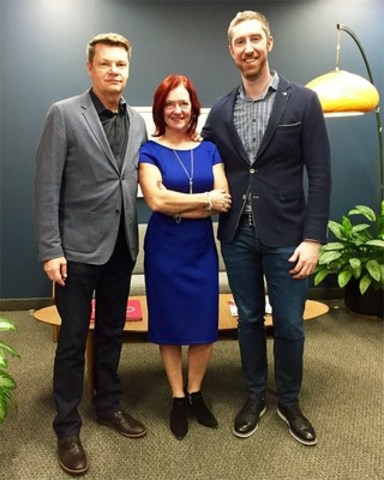 MKTG Canada leadership team - from left to right: Brian Cooper, CEO; Cori Woolley, SVP; Matthew Logue, COO. (CNW Group/Dentsu Aegis Network)