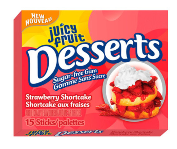 Paquet simple Desserts de Juicy Fruit: Shortcake aux fraises. (Groupe CNW/Wrigley Canada)