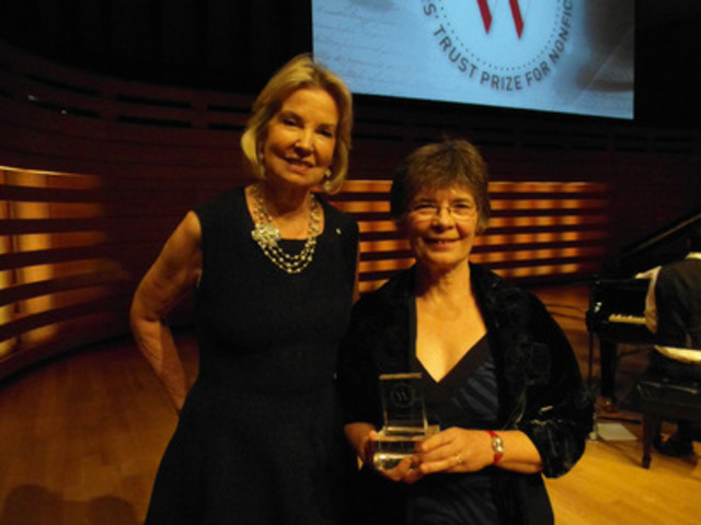 The Honourable Hilary M. Weston with prize winner Candace Savage. (CNW Group/The Writers' Trust of Canada)