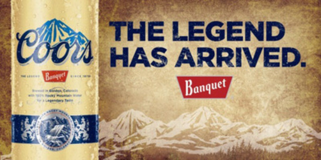 Coors Banquet - The legend has arrived in Canada (CNW Group/Molson Coors Brewing Company)