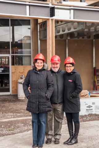 Denise Mérineau, President & co-founder Brasseur de Montréal, Marc-André Gauvreau, Vice-president & co-founder Brasseur de Montréal, Michelle Tremblay, Vice-president & co-founder BONE Structure (CNW Group/BONE Structure)