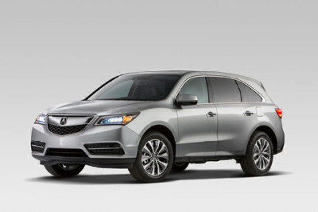 The all-new 2014 Acura MDX luxury SUV makes its Canadian debut at the 2013 Edmonton Motor Show. The third-generation MDX raises the bar with more performance, class-leading fuel economy ratings, and new Acura technologies designed for Canadians. (CNW Group/Acura Canada)
