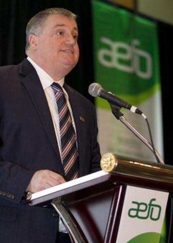 Rémi Sabourin nouvellement élu à la présidence de l'AEFO (Groupe CNW/Association des enseignantes et des enseignants franco-ontariens (AEFO))
