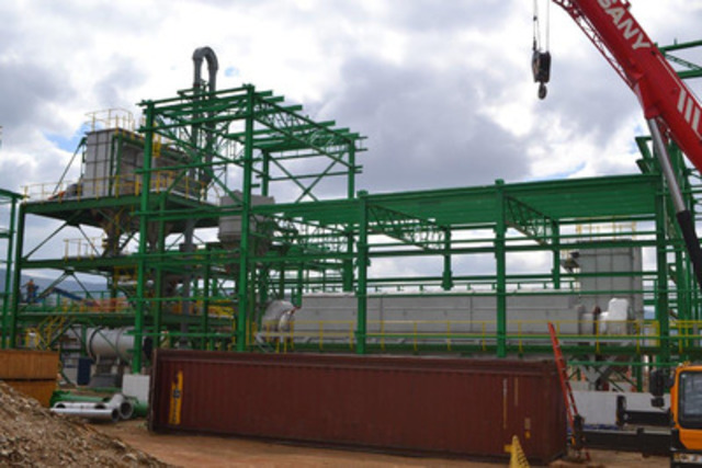 Picture 8: Flash Dryer, Deammoniator, Final Product Building (CNW Group/Largo Resources Ltd.)