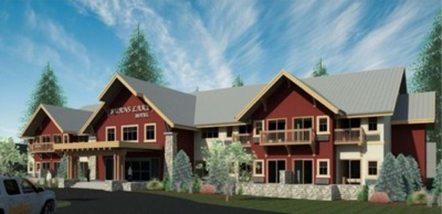 Artist's rendering of the Burns Lake Lodge project (CNW Group/WesternOne Inc.)