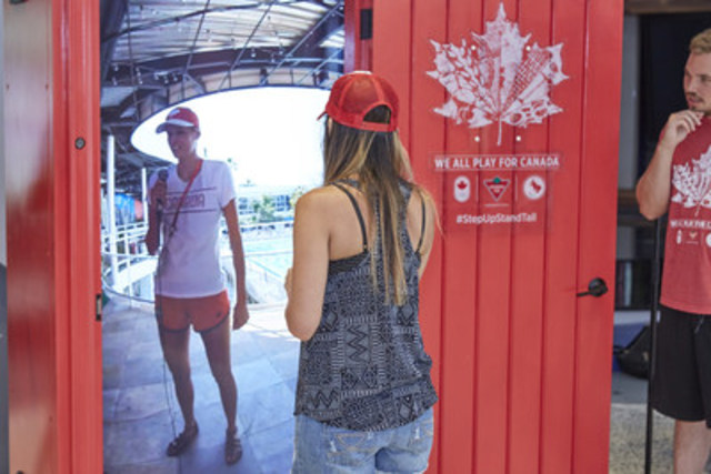 Canadian Tire's Red Door to Rio Provides Unprecedented Connection to Canada Olympic House. (CNW Group/CANADIAN TIRE CORPORATION, LIMITED)