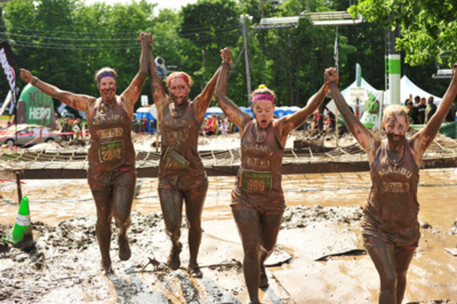 More than 10,000 participants are expected to tackle obstacles and mud pits at the Mud Hero Urban Toronto race at Ontario Place on May 22nd and 23rd. The race is one of Mud Hero's nation-wide series of events which expects to draw 70,000 participants this year. www.mudhero.com (CNW Group/Get Out There Communications, Inc.)