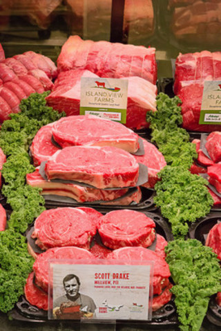The sale of Island View Farms beef in Sobeys, Foodland, and Co-op stores on PEI supports close to 500 Island beef producers and the more than 100 employees and their families at Atlantic Beef Products in Albany, PEI. (CNW Group/Sobeys Atlantic)