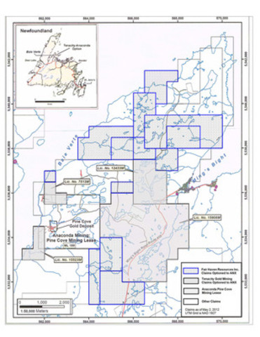 Anaconda Mining - Pine Cove Property Holdings (CNW Group/Anaconda Mining Inc.)