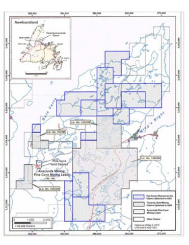 Anaconda Mining - Pine Cove Property Holdings (CNW Group/Anaconda Mining Inc.)