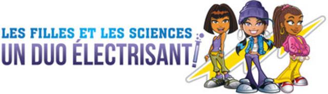Logo : Les filles et les sciences : un duo électrisant! (Groupe CNW/Les filles et les sciences : un duo électrisant!)