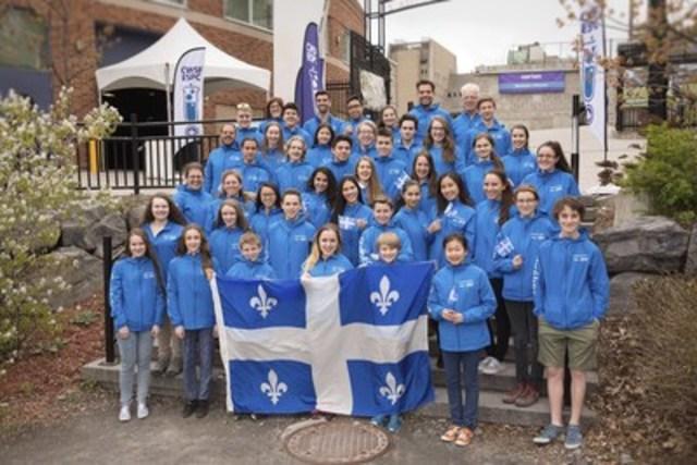 La délégation du Québec, parrainée par Merck Canada Inc., à l'Expo-sciences pancanadienne (Groupe CNW/RÉSEAU CDLS-CLS)