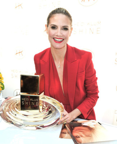 """Heidi Klum """"Shines"""" in Toronto at the launch of her debut fragrance. (Photo Credit: George Pimentel) (CNW Group/Coty Inc.)"""