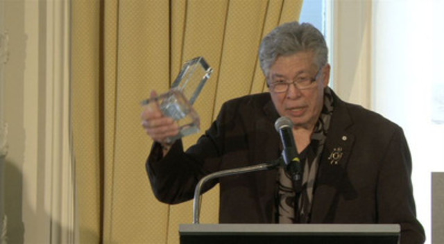 "Video: Thomas King win the RBC Taylor Prize for Literary Non-Fiction for his book ""The Inconvenient Indian"""