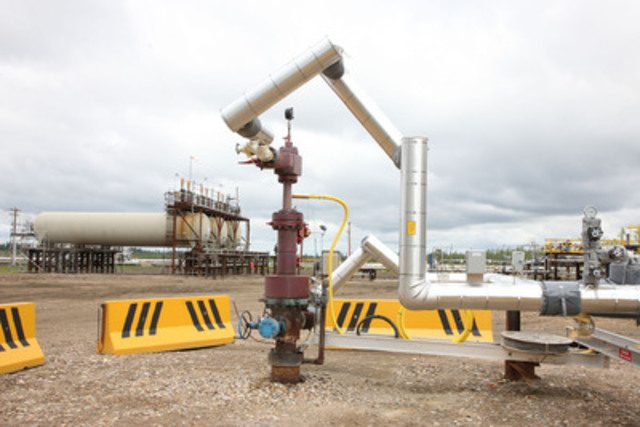 This solvent aided process (SAP) pilot project at Christina Lake's oil sands operation is one of the company's many technology development projects. (CNW Group/Cenovus Energy Inc.)