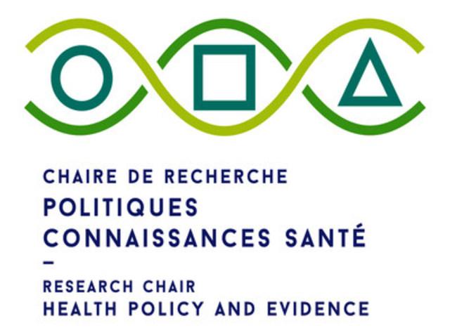 Logo : Chaire de recherche Politiques, Connaissances et Santé (Groupe CNW/Chaire de Recherche Politiques Connaissances et Santé)