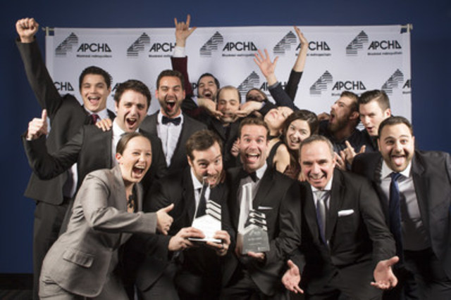 """L'équipe KnightsBridge, lauréate du Prix Domus """"Constructeur de l'année"""" et """"meilleur rapport qualité/prix"""" lors du 33e Gala Domus (Groupe CNW/Gestion KnightsBridge inc.)"""