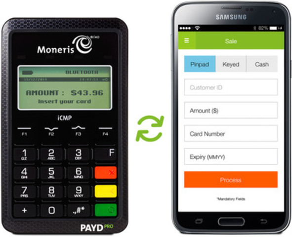 Figure 1: PAYD PRO powered by Moneris paired with Android OS (CNW Group/Moneris Solutions Corporation)