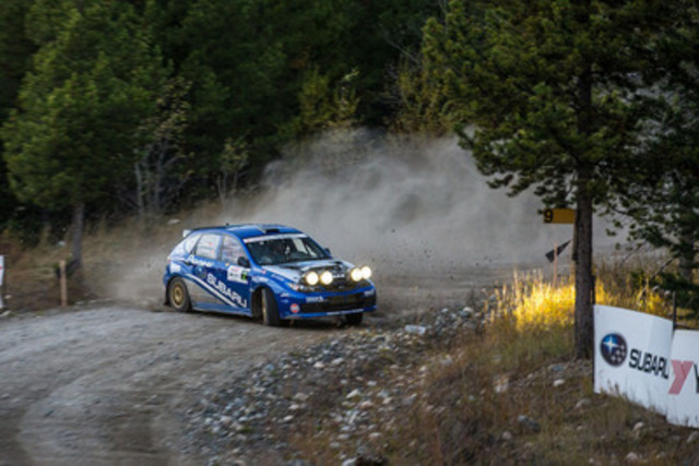 Subaru Rally Team Canada at Pacific Forest Rally. (CNW Group/Subaru Canada Inc.)