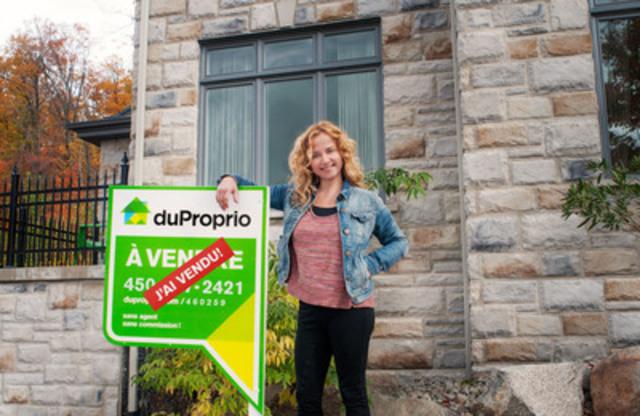La comédienne Brigitte Lafleur vend sa maison en 48 heures grâce à DuProprio (Groupe CNW/DuProprio)