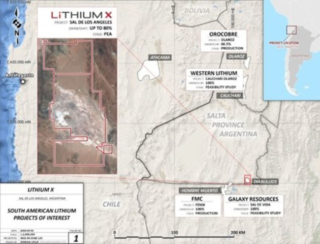 Figure 1: Sal de los Angeles Project (CNW Group/Lithium X Energy Corp.)
