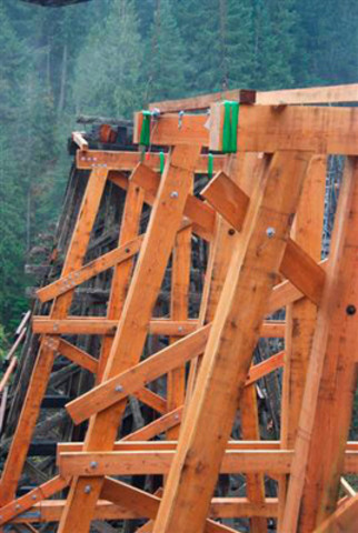 Kinsol Trestle, Trans Canada Trail, Cowichan Valley, BC (CNW Group/Canadian Wood Council for Wood WORKS! BC)