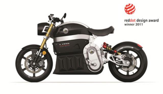 Motocyclette électrique SORA de Lito Green Motion. Design industriel par L'Unité Créative Inc. - Red dot award 2011 (Groupe CNW/L'UNITE CREATIVE INC.)