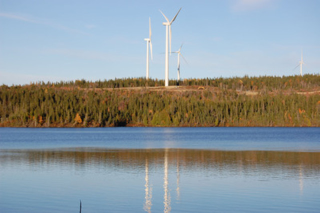 Innergex Renewable Energy Inc. - Gros-Morne I and Montagne-Sèche Wind Farms. (CNW Group/INNERGEX RENEWABLE ENERGY INC.)