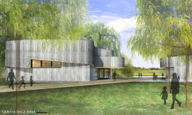 Croquis du futur centre de découverte et de services (Groupe CNW/Société des établissements de plein air du Québec)