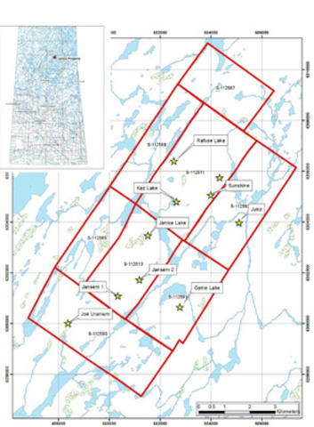 Location Map for the Janice Lake Project in Northern Saskatchewan, Canada (CNW Group/Transition Metals Corp.)