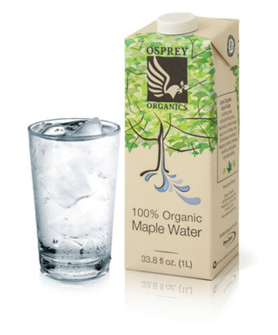 Poured over ice Osprey Organic Maple Water is a refreshing summer drink (CNW Group/Osprey Organics)