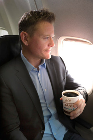 December 1, WestJet will offer McCafé Premium Roast coffee on board its flights. (CNW Group/WestJet)