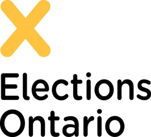 ONTARIO'S 41ST PROVINCIAL GENERAL ELECTION BEGINS (CNW Group/Elections Ontario)