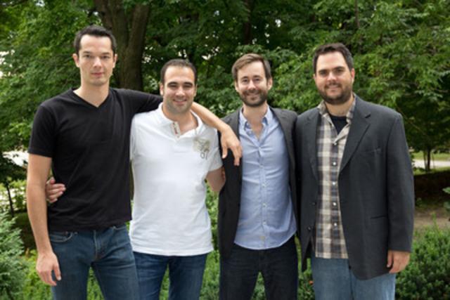 Left to right: Simon Turcotte, Lauris Bonnet, Jean-Michel Beaudoin and Daniel Tardif. (CNW Group/HEC Montréal)