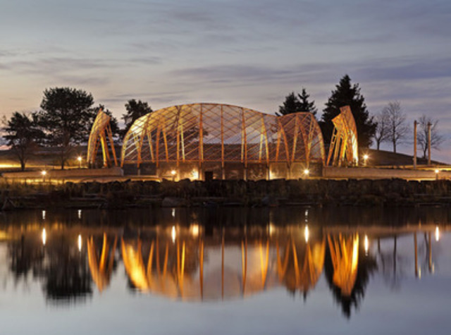 Jury's Choice Award Winner: Project: The Gathering Circle at the Spirit Garden, Thunder Bay; Architect: Brook McIlroy and Ryan Gorrie - Engineer: Blackwell Bowick Partnership Ltd. (CNW Group/Ontario Wood WORKS!)