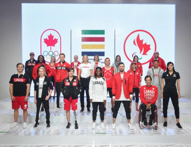 La compagnie de La Baie d'Hudson, le Comité Olympique Canadien, ainsi que le Comité Paralympique Canadien lancent la Collection de l'Équipe Canada pour Rio 2016. (Crédit : George Pimentel) (Groupe CNW/la Baie d'Hudson)