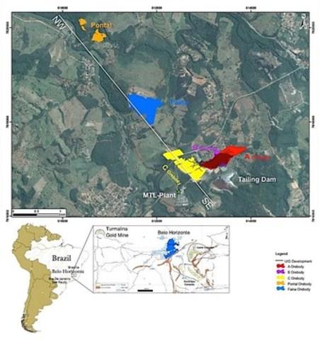 Figure 1 - Location Plan, Turmalina Gold Mine (CNW Group/Jaguar Mining Inc.)