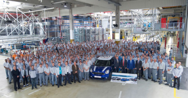 Magna's contract manufacturing operation in Graz, Austria, has produced 1,000,000 vehicles for the BMW Group starting in 2003. This figure includes the BMW X3, MINI Countryman and MINI Paceman vehicles. (CNW Group/Magna International Inc.)