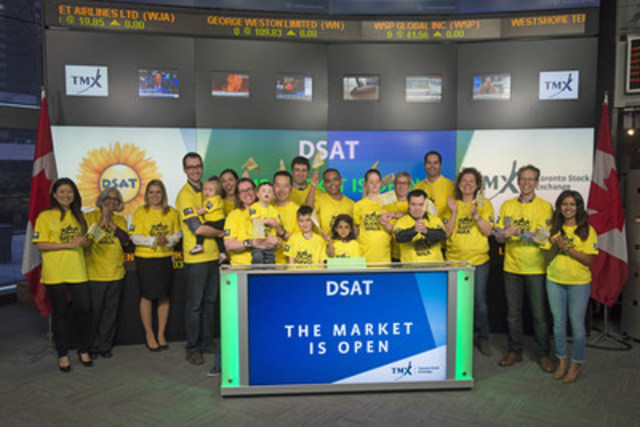 Bhaskar Thiagaran, President, Down Syndrome Association of Toronto (DSAT) joined Steven Mills, Regional Head, TSX Company Services, Toronto Stock Exchange & TSX Venture Exchange to open the market to raise awareness for DSAT's fourth annual Buddy Walk®. The Down Syndrome Association of Toronto is a parent organized and led charity which works to achieve the goals of maximization of individual potential, integration, and full participation of persons with Down syndrome in the community. Founded in 1995, the Buddy Walk® is a 3 km walk along Ashbridges Bay boardwalk, which raises funds for education, research, advocacy and community based programs. This year's walk will take place on Saturday May 7. (CNW Group/TMX Group Limited)