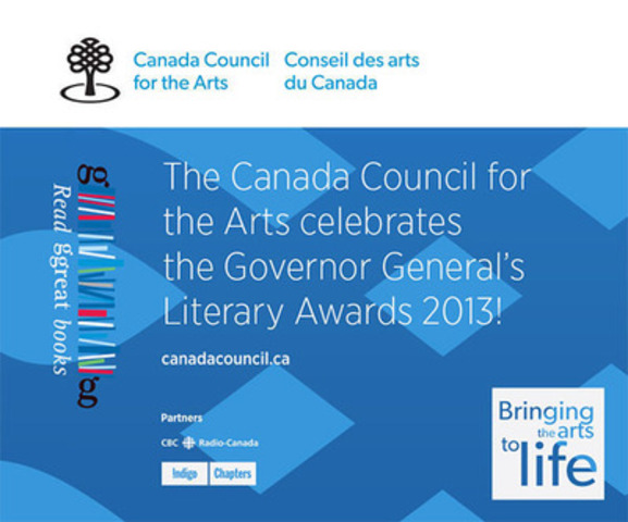 Canada Council for the Arts - Governor General's Literary Awards (CNW Group/Canada Council for the Arts)